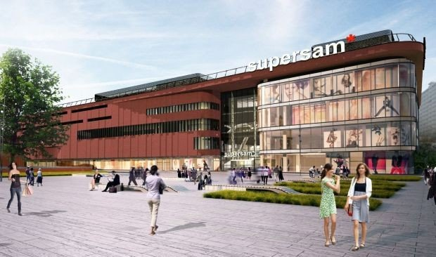 Supersam shopping center in Katowice